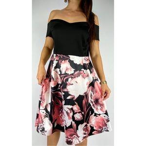 CROSSROADS Off The Shoulder Floral Dress Size 16